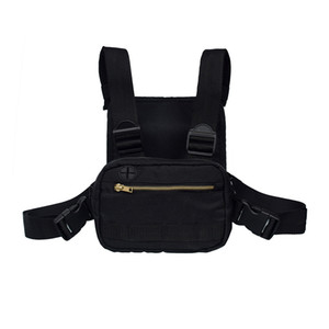 Wholesale 2019 Mini Men Chest Rig Streetwear Outdoor Sports Waist Bag Climbing Shoulder Bag Phone Money Belt Tactical Chest