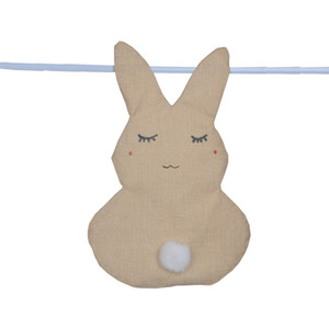 Wholesale Easter Bunny Flag cm DIY Jute Fibre Rabbit Ear Hanging Flags Garden Rabbit Flag