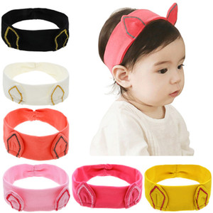 Wholesale Baby Girls headbands colors Cartoon Kitty Ear Head bands Kids Elastic Hairband Fashion Children Hair Accessories Headbands hair bows JY269