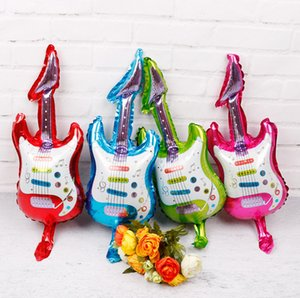 Wholesale 2019 CM colors mini guitar aluminum foill balloons Baby shower girl boy children birthday party decor kids toys balloon