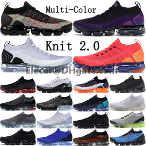 Wholesale New Cheap Fly TN Men Running Shoes Womens Racer blue Orca Pure Platinum Triple Black White Multi color Knit sports sneakers trainers
