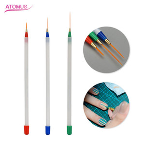 Wholesale 3pcs Nail Art Brushes Manicure Tools Set Line Drawing Painting Pattern Brush Multi Use Nail Art Supply Accessories