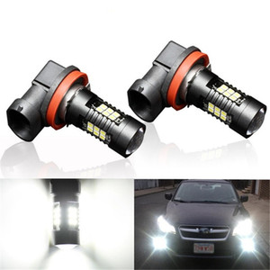 Wholesale 2Pcs H8 H11 Led HB4 9006 HB3 9005 Fog Lights Bulb 3030SMD 1200LM 6000K White Car Driving Running Lamp Auto Leds Light 12V 24V