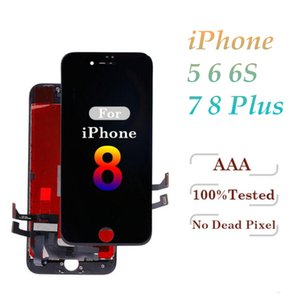 High Brightness Grade A +++ For iPhone 5S 6 6S 7 7 Plus 8 8 Plus LCD Display Touch Screen Digitizer Assembly & Free DHL on Sale