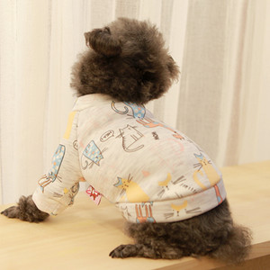 Wholesale Pet Clothes Dog and Cat Clothes Teddy Bear Bomei Autumn and Winter Fashion Warmth New Flannel Cartoon Cute T shirt