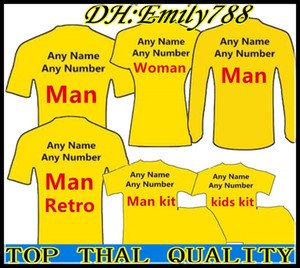 Wholesale 19 Club team Top quality Soccer Jersey Any Man Woman Kids Kit Soccer Shirts Leave message of the team customize football uniform