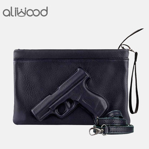 Wholesale 3d Print Gun Pistol Bag Brand Women Bag Chain Messenger Bags Designer Clutch Purse Ladies Envelope Clutches Crossbody Bag Bolsas MX190816