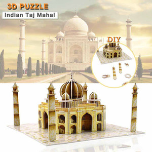 Wholesale Cardboard Taj Mahal D Puzzles Toys for Children DIY World Famous Attractions Model Kits Educational Hobbies Gift Home Decor
