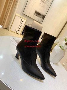 Wholesale booties Large Size New Style Autumn Women Boot Shoes Brand Classic Women red bottoms High Heels Pointy Toe Dress Shoes women shoes