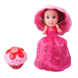 Wholesale 1pcs cm Cup Cake Doll Flavor Mini Deformable Pastry Princess Deformed Dolls Dress Surprise Sweet Girl Birthday Christmas Magic Gift Tran