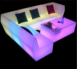 Wholesale bars tables for sale - Group buy New LED rechargeable sofa coffee chair set combination bar club KTV room card seat table and chair creative personality furniture counter