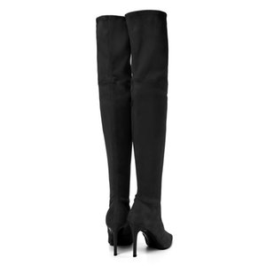 Wholesale Fashion Jackboots Over The Knee Boots For Women Upper Stretch Fabric Slim Boots Factory price