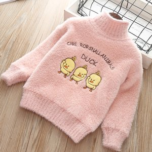 Wholesale girls sweaters winter baby girl sweaters tops thicken long sleeve cartoon cute animal sweater spring autumn kids clothes