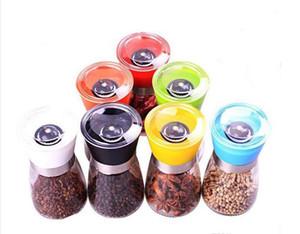 Salt and Pepper mill grinder Glass Pepper grinder Shaker Salt Container Condiment Jar Holder New ceramic grinding bottles