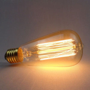 Wholesale Retro Edison Light Bulb E27 220V 40W ST64 T45 G80 Filament Vintage Globe Bulb Antique Incandescent Bulb Edison Lamp