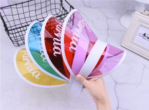Wholesale Kids Visor Caps 2019 Baby Girl candy Color PVC Hat Summer Beach Accessories Children Outdoor sun Cap 8Style