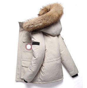 Wholesale Mens Parka Down Jacket Canadian Wind Down Jacket New Long Version Coat Thick Designer Winter Jacket Fashion Hooded Warm Clothing