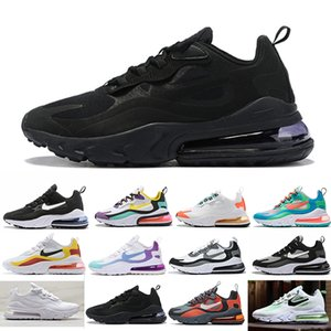 react mens running shoes Bleached Coral Dusk Purple Grey and Orange In My Feels Bauhaus triple black men women Outdoor sports sneakers LJ26