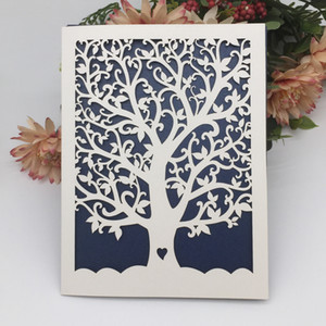 Wholesale fathers day card for sale - Group buy 50PCS Hollow Laser Cut Heart Tree Wedding Invitation Card Supplies Party Decoration Father s Day Blessing
