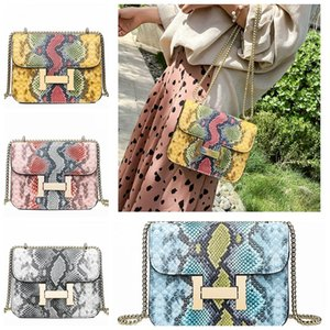 New lock single shoulder diagonal handbag 2019 snake skin pattern fashion PU commuter handbag shoulder bags on Sale