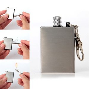NO OIL Silvery Metal Match Fire Portable Bottle Cooking Tools Outdoor Camping Lighter Kit Household Sundries 1 0lh A1
