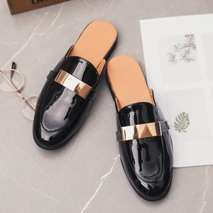 Wholesale Trend Summer Mens Loafers Half Drag Fashion Casual Sneakers Black Men Casual Original Shoes Comfortable Platform Half slippers