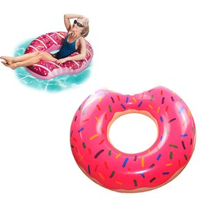 Wholesale New Donut Inflatable Swimming Ring Adult Super Large Gigantic Doughnut Children Summer Party Pool Toys Life Buoy Seat Float