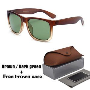 Wholesale 1pcs brand designer Ultra textured sunglasses women men Fashion vintage Driving Sun glasses Retro UV400 Oculos with brown cases and box