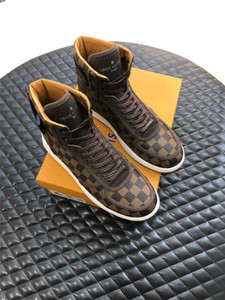 2019 new men's leather luxury casual shoes high quality men's outdoor brand travel shoes fashion men's boots original box invoice