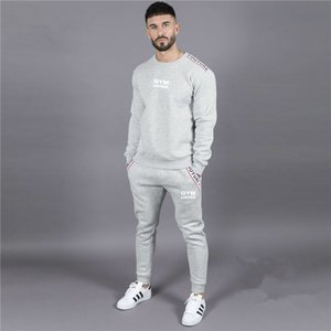 Wholesale Hot Sale Muscle brothers new sports suit men s running training basketball sports fashion trend thin tracksuits Mens Clothing