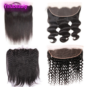 Wholesale Brazilian Virgin Hair 13X4 Lace Frontal With Baby Hair Pre Plucked Ear To Ear Body Wave Straight Hair Kinky Straight Deep Wave Curly