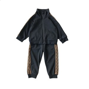 Wholesale Retail new boys girls letter football baseball tracksuit sport suits set jacket pant kids luxury designer outfits baby tracksuits
