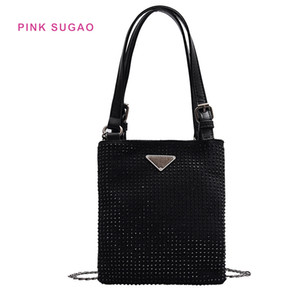 Wholesale Pink Sugao deisgner crossbody bag women handbag luxury purse small new fashion shoulder handbag hot sales chain bag waterproof diamond stamp
