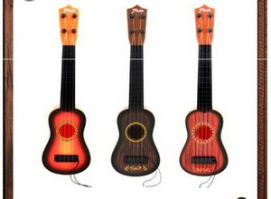 Wholesale Guitar Mini Early Childhood Education Simulated Ukrainian Hand Played Little Guitar Music Toy Gift for Children Enlightenment Instruments