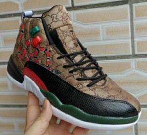 Wholesale New Jumpman 12s basketball shoes j12 Wings black gold snake skin Multi Men air flight 12 xii sports sneakers boots 7-13 01