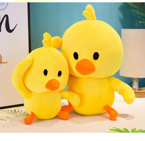 2019 New hot sell 25cm little yellow duck plush toys Child pillow Stuffed Animals dolls Child gift wholesale