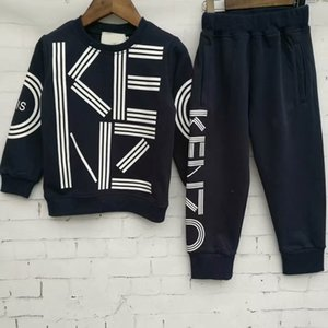 Wholesale 2019 brand Boys years Girls Suit Tracksuits sweater Clothing Set Hot Sell Fashion Spring Autumn Children s Dresses Long Sleeve Sweater