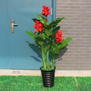 Wholesale artificial plants greenery cm Canna tree indoor fake flower artificial decorative flowers fake plants