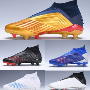 Predator 19+Children Football Boots FG Archetic Pogba Virtuso Outdoor Kids Youth Junior Soccer Cleats High tops For men and women on Sale