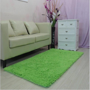 Chenille solid color carpet living room bedroom bedside super soft mat yoga mat hotel carpet sofa coffee table home rug