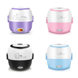 Lunch Box Heated Food Containers 110v 220v Electric Box Lunch Purple Container for Food Stainless Steel Bento Box SH190928