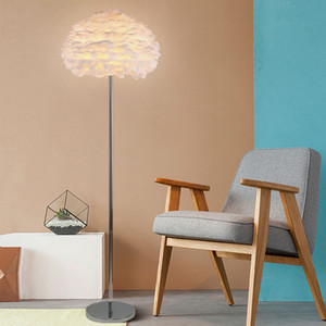 Wholesale Modern Feather Floor Lamps for Living Room Tripod Led Standing Lamp Bedroom Home Loft Decor Nordic E27 Light Fixtures Luminaire