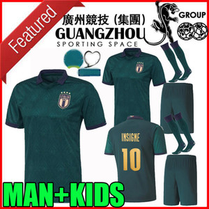 European league 2019 2020 italy third soccer jerseys CUP 19 20 Italia maglie da calcio Verratti Jorginho Romagnoli MAN + KIDS football shirt on Sale