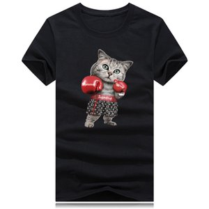 Wholesale New fashion boxers T shirt high end designer boxing gloves print short sleeve casual T shirt high quality breathable cotton men s T shirt