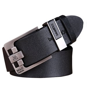 Wholesale Luxury Belt Men s Belts Pin Buckle Man s Genuine Leather Strap for Jean High Quality Wide Brown Color Fashion Male Belt Designer