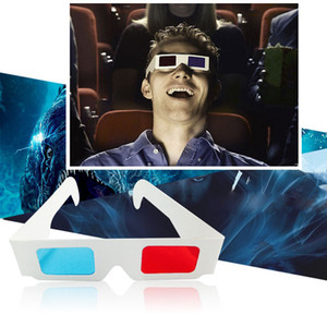 Hotsale Convient 100pcs lots 3D Paper Glasses For 3D Movies Red Blue Lens With OPP Package Free DHL