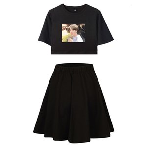 Wholesale Bts Men s Event Team Cartoon Leisure Time Clear Female Short Skirt Suit