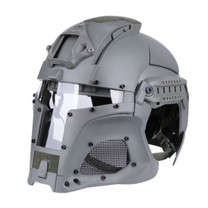 Wholesale tactical helmet paintball mask for sale - Group buy Tactical Ballistic Helmet Side Rail NVG Shroud Transfer Base Combat Airsoft Paintball Full Face Mask Helmet
