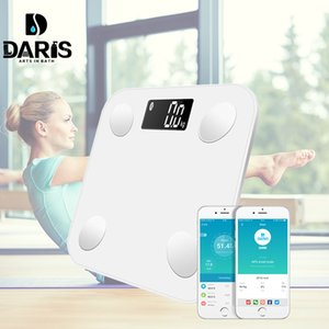 Wholesale Bluetooth Body Fat Scale Smart BMI Digital Bathroom Wireless Weight Floor Scale Body Composition Analyzer with Smartphone App SH190926