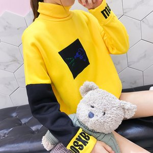 Wholesale new Harajuku Hoodies Women Sweatshirts Spring Anime korean Clothes busos para mujer moleton feminina yellow Backstreet Boys BTS